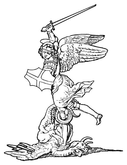 Two Hearts Design Clipart Saint Anthony St Michael Coloring Page