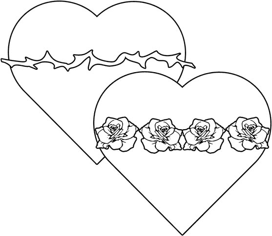 Two Hearts Design has a very nice Sacred and Immaculate Hearts coloring page